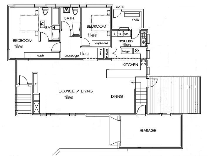 Upper Unit - Floor plan